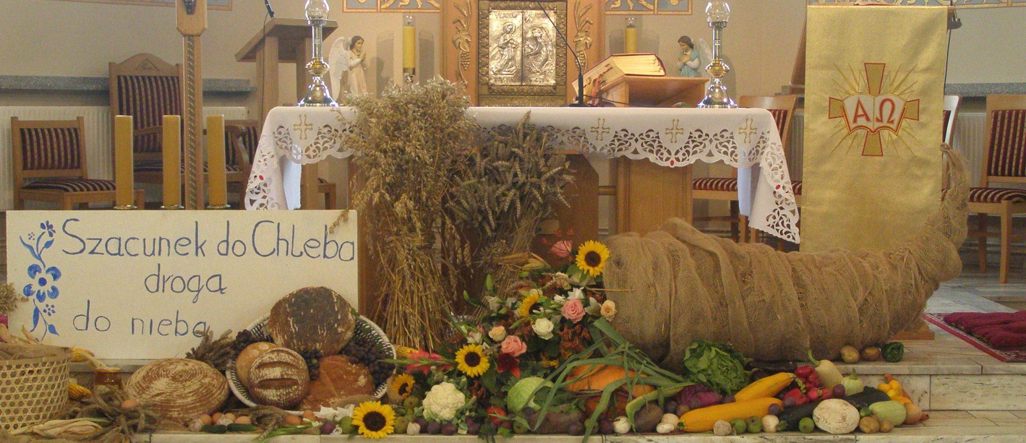 Dziękczynienie za plony - Parafia św. Karola Boromeusza w Kryrach